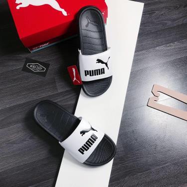 Sale 50% Hàng Chính Hãng Dép Puma PopCat Black/White/Black LOGO   2020 **HOT**