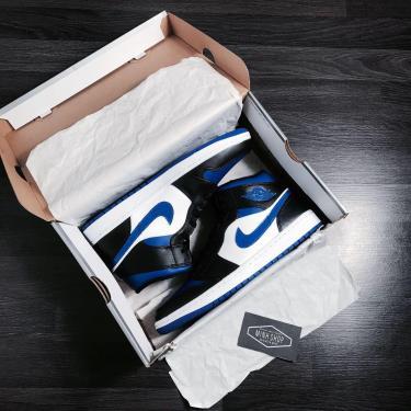 Hàng Chính Hãng Nike Air Jordan 1 Mid 'Royal BLue' CUST  2020**