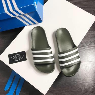 Hàng Chính Hãng Dép Adidas Adilette Aqua Slides Moss  Green  **2020**ZZZ