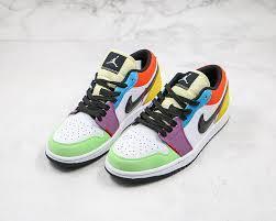 Hàng Chính Hãng Nike Air Jordan 1 Low Lightbulb Multi 2020**
