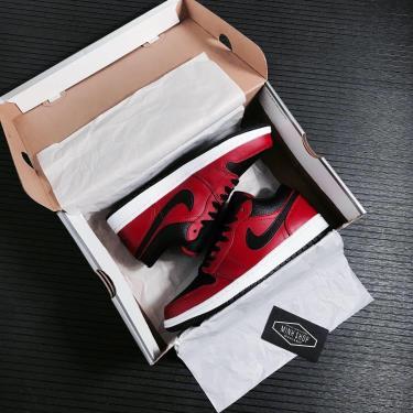 40%  Giày Nike Air Jordan 1 Low Black/Red ** [553558 605]