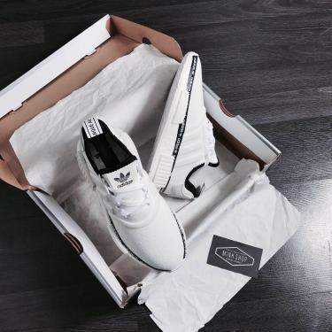 Hàng Chính Hãng Adidas  NMD R1 'White Tape Logo' 2020**