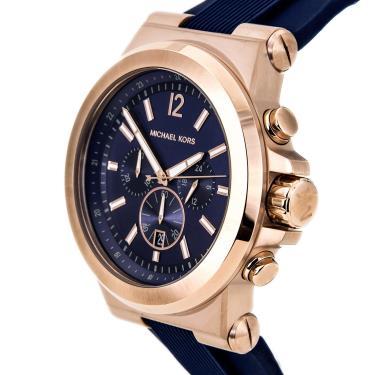 Hàng Chính Hãng Michael Kors Dylan Silicone Rose Gold/Blue Watch 2020**