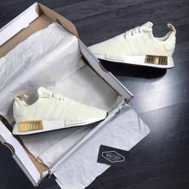 Hàng Chính Hãng Adidas NMD R1 'Off White Gold' 2020**