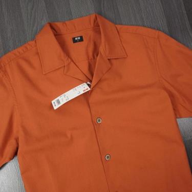 Hàng Chính Hãng Áo Sơ Mi Uniqlo Short Sleeve Shirt Dark Brown 2020**