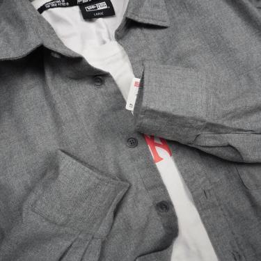 Hàng Chính Hãng Áo Uniqlo Flannel Long Sleeve Shirt Light Grey **2020**