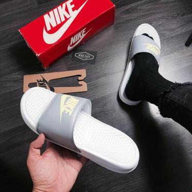 Hàng Chính Hãng Dép Nike Benassi  Grey/Cool Mint 2020**