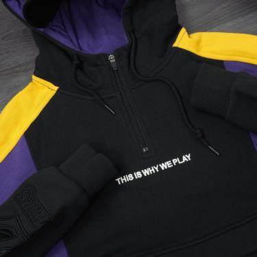 Hàng Chính Hãng Áo Hoodie Half Zip NBA LA Lakers Black Purple 2019**