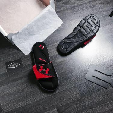 Hàng Chính  Hãng Dép Under Armour  Ignite VI Slides  Black/Red 2020**