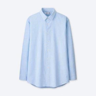 Hàng Chính Hãng Áo Sơ Mi Uniqlo J.W.Anderson Long Sleeve Blue 2020**