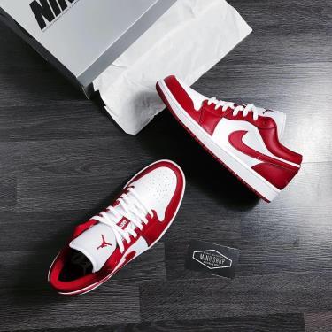 Hàng Chính Hãng  Nike Jordan 1 Low Gym Red White 2020**