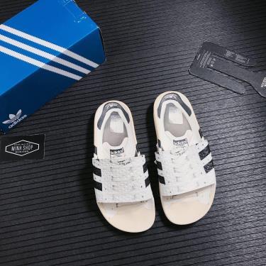 KHÓ VỀ LẠI Hàng Chính Hãng Dép Adidas  Adilette Cloud White & Core Black Superstar Slides 2021**