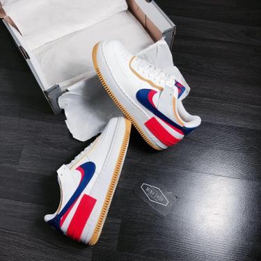 Hàng Chính Hãng Nike Air Force 1 Shadow White/ Blue/Flash Crimson 2020** V