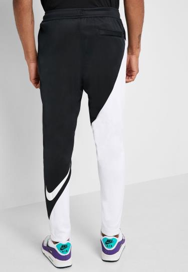 Hàng Chính Hãng Quần Nike Sportswear Swoosh Trousers Black/White 2021**