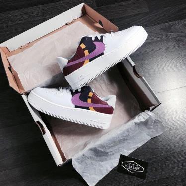 -9xx Hàng Chính Hãng Nike Air Force 1 Sage Low LX White/Purple 2020**