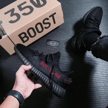 Hàng Chính Hãng Adidas Yeezy Boost 350 V2 Core Black Red 2021 - [O]