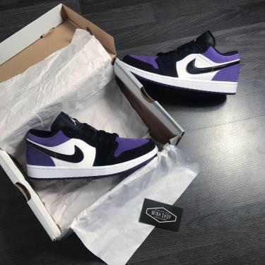 Hàng Chính Hãng Nike Air Jordan 1 Low Court Purple  2020**