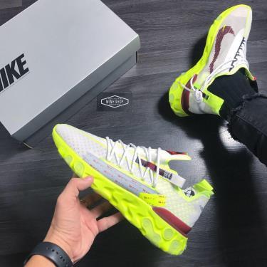 Hàng Chính Hãng Nike React WR ISPA Pure Platinum Team Red Volt Glow 2020**