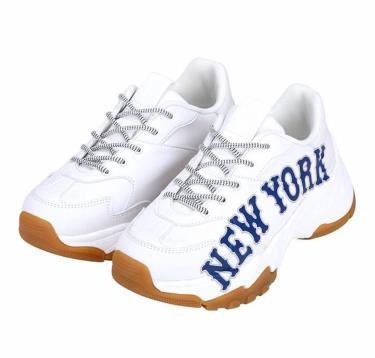 Hàng Chính Hãng MLB Newyork Sneaker - Big Ball Chunky P White Gum 2020**