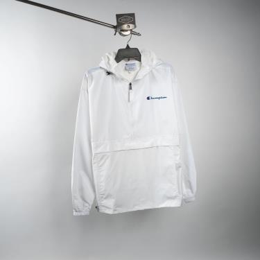 Áo Khoác Champion Packable Jacket White Small LOGO **