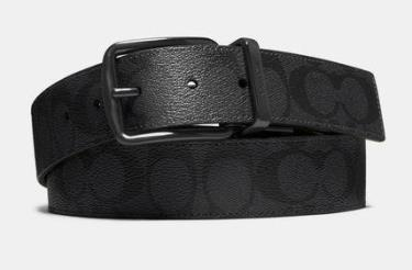 Hàng Chính Hãng Leather Belt Coach Black  2020**