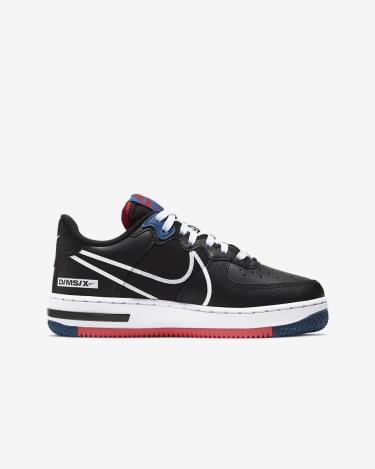 Nike Air Force 1 React Black/Gym Red/Blue ** [CT5117 002]