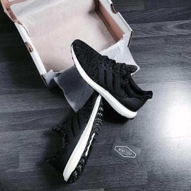 Hàng Chính Hãng  Adidas Ultra Boost 4.0 Black White Speckle 2020**