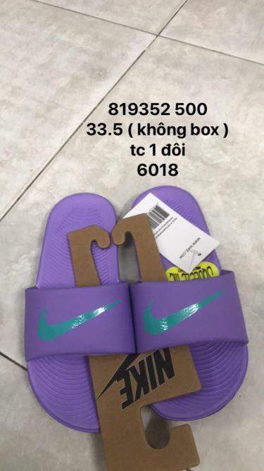 Hàng Chính Hãng Dép Nike Kawa Slide Purple Kids 2020**