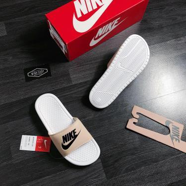 Hàng Chính Hãng Dép Nike Benassi White/Nude/Black  2020**