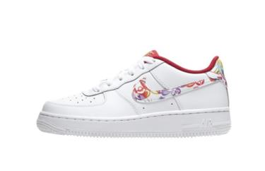 Hàng Chính Hãng Nike Air Force 1 BG  CNY AF1 White Red Muitil 2020**