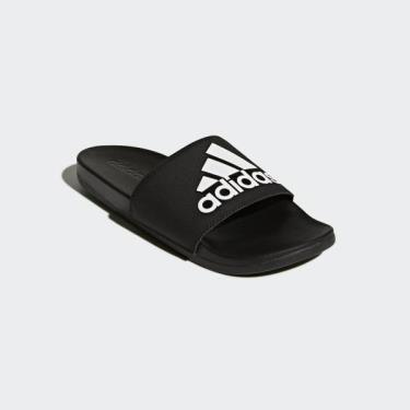 ⚜Highest Rated⚜ Hàng Chính Hãng Dép Adidas CF Adilette All Black/White Logo **2021**