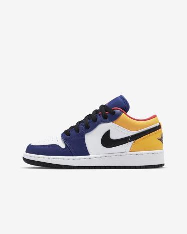 Giày Nike Jordan 1 Low Royal Yellow GS ** [553560 123]