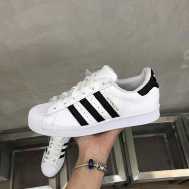 ''FLASH DEAL 70% '' Hàng Chính Hãng Adidas Super Star White Black/White Stamp **2020**