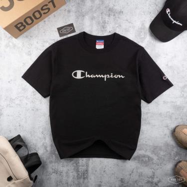 ao-thun-champion-black-silver-logo