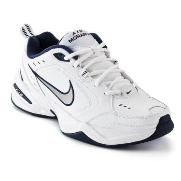 Hàng Chính Hãng Nike Air Monarch IV White/Metallic Silver/Navy 2021**