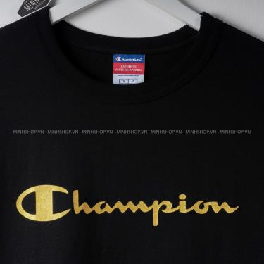 ❌Top Choice❌ Áo Thun Champion Black/GoldLogo  [070036042732]
