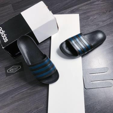 Hàng Chính Hãng Dép Adidas Adilette Aqua Slides All Black/Navy * **2020**