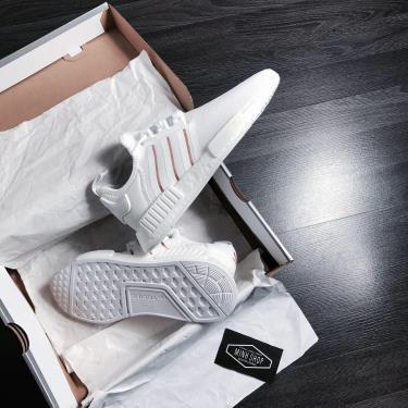 Hàng Chính Hãng Adidas NMD R1 White/ Stripes White Gold **2020**