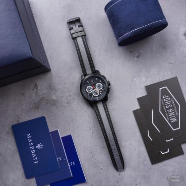 Hàng Chính Hãng Maserati Royale Black Grey Watch 2021**
