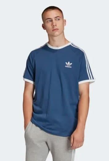 Hàng Chính Hãng Áo Thun Adidas 3-Stripes Blue 2021**