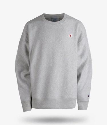 Hàng Chính Hãng Áo Sweater Champion Reverse Weave Crew Grey 2020**
