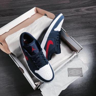 Hàng Chính Hãng Nike Jordan 1 Low USA Navy Red White 2021** [CZ8454 400]