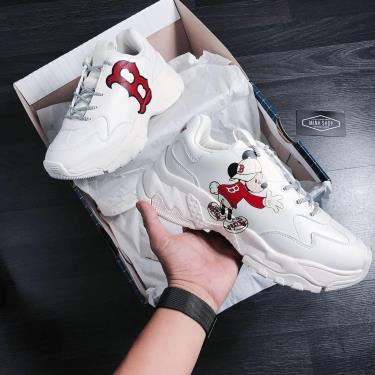 Hàng Chính Hãng  MLB x Disney Big Ball Chunky Mickey Boston Red Sox Shoes Ivory **2020**