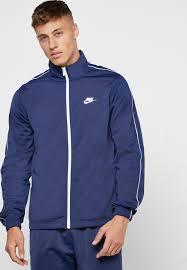 Hàng Chính Hãng Áo Khoác  Nike Sportswear Tracksuit Jacket Navy/White 2021**