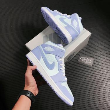 Hàng Chính Hãng Nike Jordan 1 Mid - Aqua 2021** [O ]