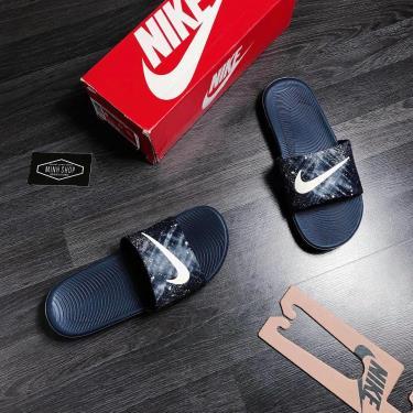 Hàng Chính Hãng Nike Kawa Slide Navy/LOGO Cream  2020**