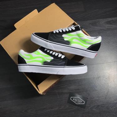 Hàng Chính Hãng Vans Sneaker Black/White/Green 2020**
