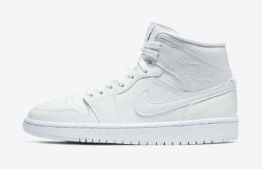 Hàng Chính Hãng Nike Jordan 1 Mid White Snakeskin  2020**