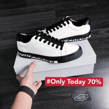 Hàng Chính Hãng Zara Lettering  Sneaker White/Black 2020** Flash deal 70%