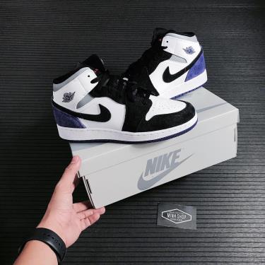 Hàng Chính Hãng Nike Jordan 1 Mid SE Purple GS 2021**